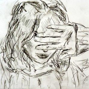 Skizze, charcoal on paper, 30 x 30 cm