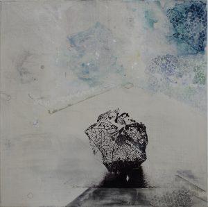 Physalis, eggtempera and screenprint on canvas, 70 x 70cm