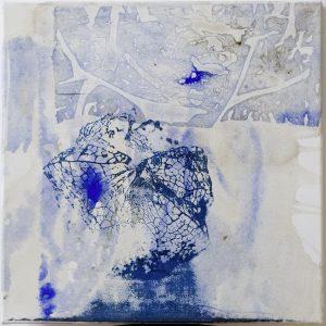 Physalis, eggtempera and screenprint on canvas, 40 x 40cm