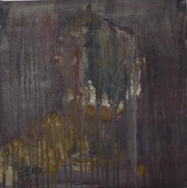 Se démasquer, oil on canvas, 40 x 40 cm