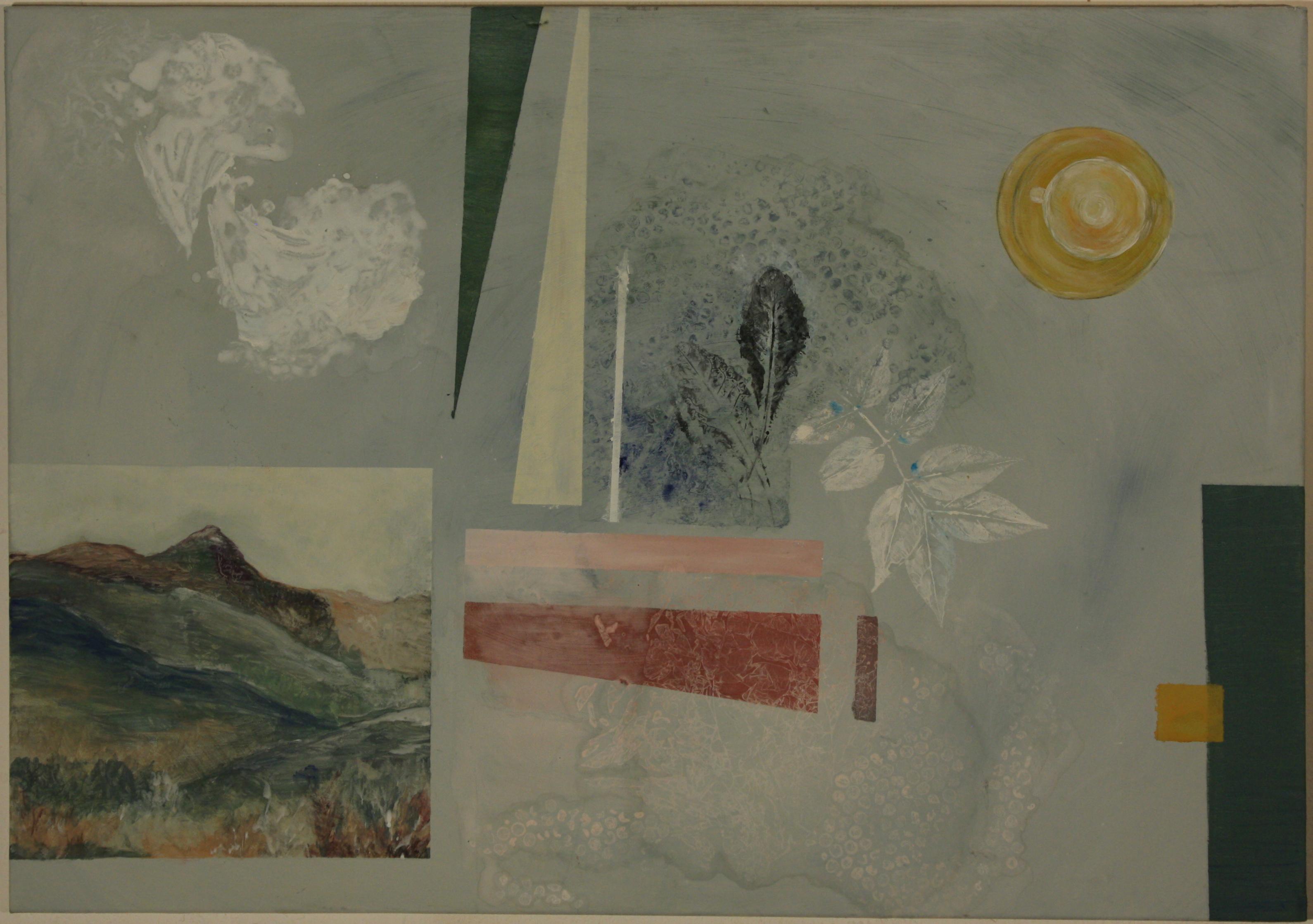 Mountainleafcoffee, eggtempera on canvas, 60 x 90 cm
