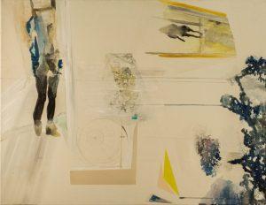 In Türen und Fenstern, eggtempera and graphit on canvas, 70 x 90 cm