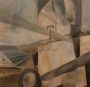 Laternen, eggtempera on canvas, 90 x 94,5 cm