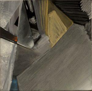 Plätze und Stiegen, eggtempera and pencil on canvas, 30 x 30 cm